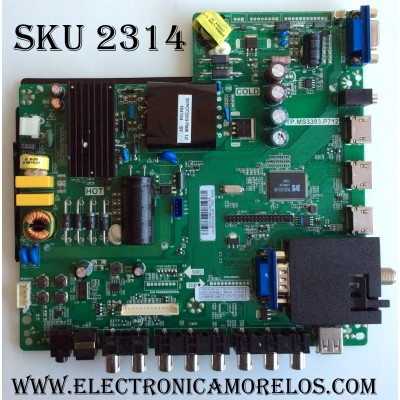 MAIN / FUENTE / (COMBO) / SCEPTRE B15113991 / TP.MS3393.P712 / T201510071A / PANEL LSC400HN02 / MODELO X40