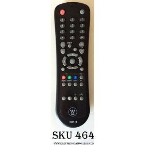 CONTROL PARA TV / WESTINGHOUSE RMT-10 / 0903A000562 /  PARTE SUSTITUTA OARC04G / MODELOS SK-26H640G / SK-26H730S / SK-26H735S / SK-32H640G