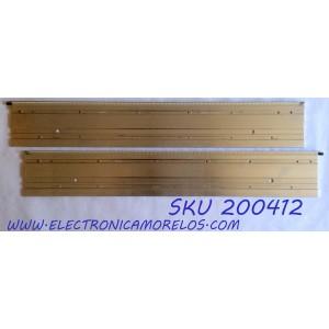 KIT DE LED`S PARA TV (2 PIEZAS) / VIZIO 6922L-0005A / 6922L-0006A / FS0516A / FS0518A / 55¨ V12 Edge REV0.6 1 L-Type 6920L-0001C / 55¨ V12 Edge REV0.6 1 R-Type 6920L-0001C / PANEL LC550EUD (SE)(F3) / MODELO M3D550KD LTYPMLEN