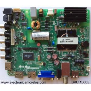 MAIN / FUNTE / (COMBO) / HISENSE U15010033 / QX-SY15010033 / TP.MS3393.PB850 / MODELO 32D37 / PANEL JHD315DH-E11(003)