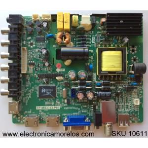 MAIN / FUENTE / (COMBO) / SEIKI N13030188 / TP.MS3393.P86 / 890-M00-06N07 / MODELO SE32HS01 / PANEL T320B6-P01-DY5(VER. W6)