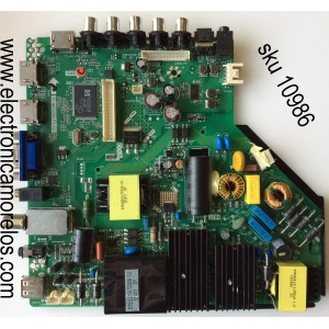 MAIN / WESTINGHOUSE B15051818 / TP.MS3393.PC821 / MODELO WD55FX1180 TW-02511-R055A / PANEL ST5461B03-1