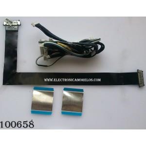 KIT DE CABLES PARA TV / SAMSUNG BN96-17116T / MODELO UN55ES6580FXZA CS02