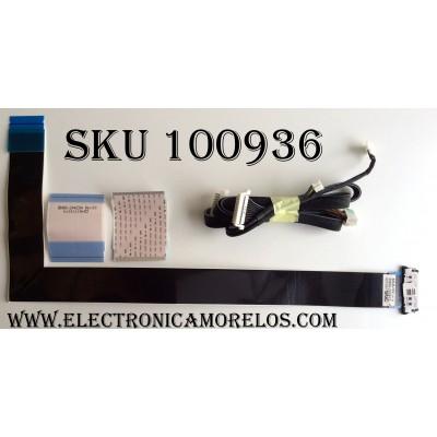 KIT DE CABLES SAMSUNG / BN96-28391Z / BN96-24429A / REV.00 / MODELO UN55FH6030FXZA / PANEL CY-DF550CSLV1H FW02