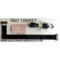 KIT DE CABLES SAMSUNG / BN96-22239F / YT3225P3 / YT3826N2 / REV.00 / MODELO UN55FH6030FXZA / PANEL LTJ550HW13-V DW17 / LTJ550HW13-V DW40