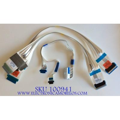 KIT DE CABLES PARA TV LG / EAD64666101 / EAD64666102 / EAD65387326 / PANEL HC550DQG-SLXL3-9141 MODELO 55UM7300AUE