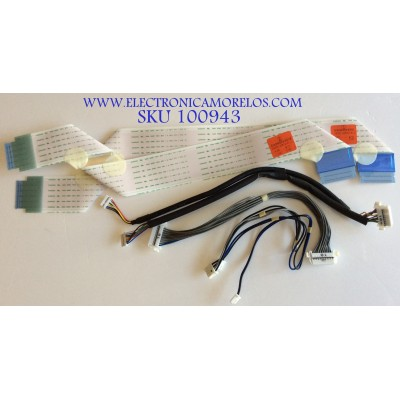 KIT DE CABLES PARA TV LG / PANEL LC550DUH / MODELO 552B6300