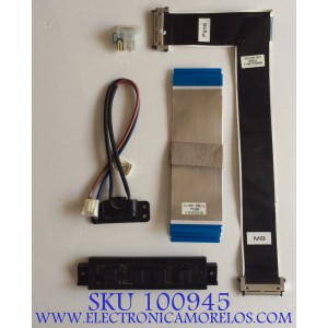 KIT DE CABLES PARA TV VIZIO / M552UI / 750.01206.0011 / PANEL T550QVN03.2 / MODELO M55-C2
