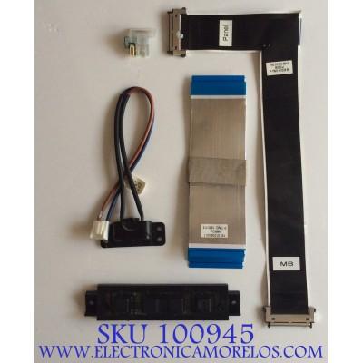 KIT DE CABLES PARA TV VIZIO / M552UI / 750.01206.0011 / PANEL T550QVN03.2 / MODELO M55-C2