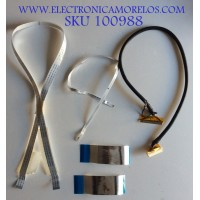 KIT DE CABLES PARA TV VIZIO / AWM20861 / E129545 / LVDS / MODELO VX37L HDTV