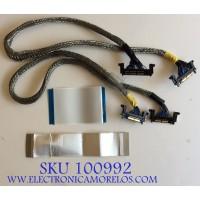 KIT DE CABLES PARA TV  SANSUI / AWM  20861 105C 60V / MODELO SLED4280