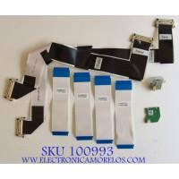 KIT DE CABLES PARA TV VIZIO / 750.00609.0011 / 750.00601.0011 / 750.00602.0011 / MODELO P552UI-B2 LWZJRNAQ