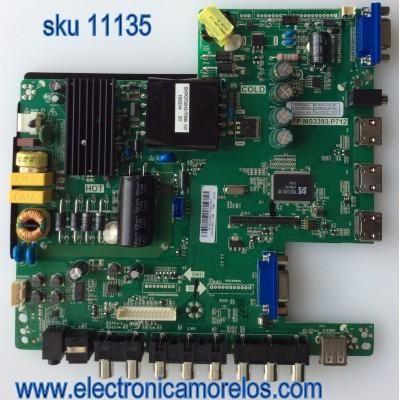 MAIN / FUENTE / (COMBO) SCEPTRE B16032901 / TP.MS3393.P712 / MODELO X40 SBNV93CD / PANEL LSC400HN02-G02