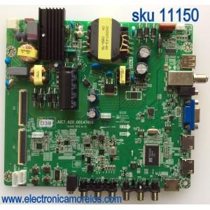 MAIN / FUENTE (COMBO) / HITACHI 999B5W / JUC7.820.00147609 / 999B5WK / HLS43C / PANEL C430F15-E3-D(624) / MODELO LE43A509A