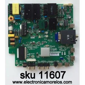 MAIN / FUENTE / (COMBO) / SCEPTRE A16089751 / TP.MS3458.PC758 / MODELO U55 SEIV58CD / PANEL LSC550FW19