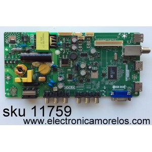 MAIN / FUENTE / (COMBO) / TCL L16084664 / TP.MS3393T.PB710 / MS39PV / MODELO 32D2700 / PANEL LVW320CS0T