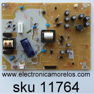 FUENTE DE PODER / EMERSON A44S1021 / BA4GF0F0102 1 / MODELO 28MD304V/F7 / PANEL U4FS0XT