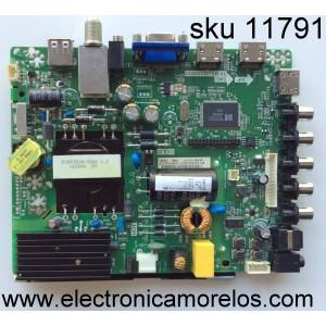 MAIN / FUENTE / (COMBO) / HISENSE 194121 / TP.MS3393.PB851 / LTDN40050US / MODELO 40H3B / PANEL JHD396DF-E01 / V400HJ6-PE1 / VER. E001