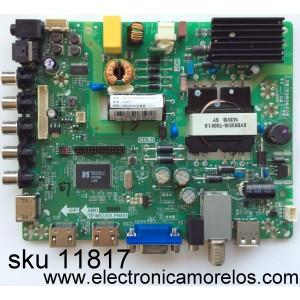 MAIN / FUENTE / (COMBO) HISENSE U14090006 / TP.MS3393.PB851 / MODELO 32H3E / PANEL JHD315DH-E11(003)