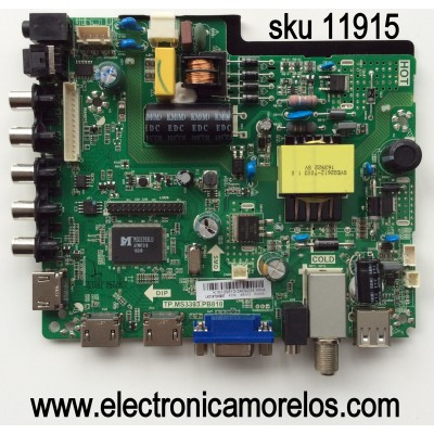 MAIN / FUENTE / (COMBO) RCA K16109813 / TP.MS3393.PB818 / MODELO RLDED3258A-I / LK315T3HB87-12V
