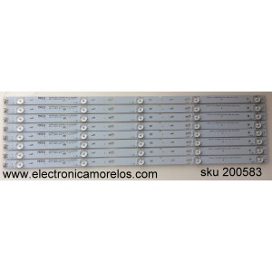 KIT DE LED PARA TV /TCL LVF550CS0T E12 / 4C-LB5505-ZM2 / 0EM55LB09_LED3030_V0.3_20150901 / MODELO 55FS3750