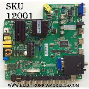 MAIN / FUENTE (COMBO) SCEPTRE B16032894 / TP.MS3393.P712 / MODELO X40 SBNV93CD / PANEL CN40HB772