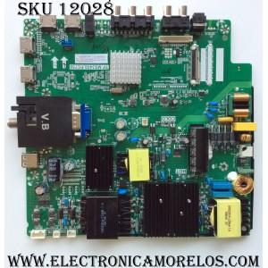 MAIN / FUENTE (COMBO) / SCEPTRE A16090234 / TP.MS3458.PC758 / MODELO U55 PCIV58CE / PANEL CN55XB8B00
