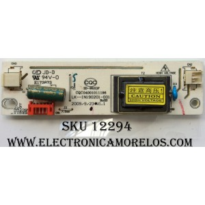 BALASTRA / RCA RE022SBLK1 / CQC04001011196 / LK--IN190201-001 / MODELO 22LA45RQD / PANEL HM215WU3-100