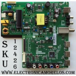 MAIN / FUENTE / TCL L16106102 / GTC000895A / T8-32NA27-MA1 / V8-MS553P1-LF1V060 / MODELO 32D100 / PANEL LVW320CS0T