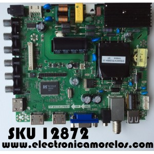 MAIN / FUENTE / (COMBO) RCA K15062080 / 40GE0010344-A1 / TP.MS3393.PB801 / MODELO LED40G45RQ / PANEL LSC400HM09-12V