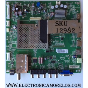 MAIN / JVC 1010035789 / 1010035789-04624 / MS3390-ZC01-01 / M27/201009791/11 / MODELO LT-43EM75 AAP / PANEL LC430DUY-SHA1