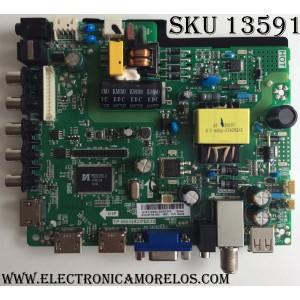 MAIN / FUENTE (COMBO) / SCEPTRE H16122802 / TP.MS3393.PB818 / MODELO X32 BMNV93GB / PANEL HV320FHB-N00