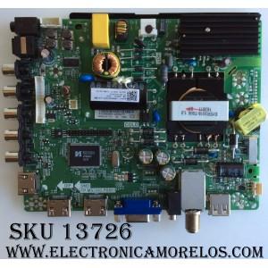 MAIN / FUENTE / (COMBO) HISENSE 160818 / G163442 / R16080890 / TP.MS3393.PB851 / LTDN40D50US / MODELO 40H3B / PANEL V400HJ6-PE1(C3)