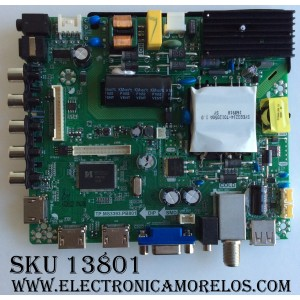 MAIN FUENTE (COMBO) PARA TV ELEMENT / NUMERO DE PARTE K17030626 / E17053-1-SY / 890-M00-06NC6 / TP.MS3393.PB801 / 75W03 / T500HJ1-PE8(C7) / PANEL T500-V35-DLED / MODELO ELFW5017 LE-50GV350-D3