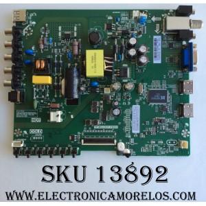"MAIN / FUENTE / (COMBO) / SANYO B16128136 / TP.MS3393T.PB952 / MODELO 32"" / PANEL HV320WHB-N06"