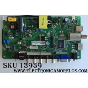 MAIN / FUENTE (COMBO) / SCEPTRE K16089078 / TP.MS3393.PA506 / MODELO E19 PDQV93JB / PANEL MV185WHB-N10