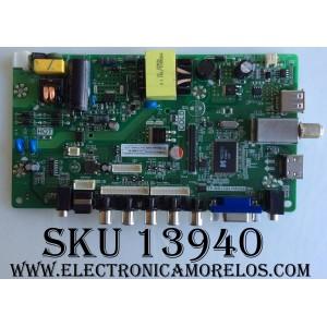 MAIN / FUENTE (COMBO) / SCEPTRE K16099662 / TP.MS3393.PA506 / MODELO E19 PDQV93JB / PANEL MV185WHB-N10