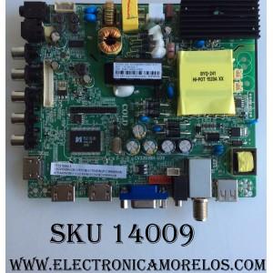 MAIN / FUENTE / (COMBO) GPX 56H1320 / CV3393BH-U39 / 1.81.60.00317 / MODELO TE4014B / PANEL LSC400HM12