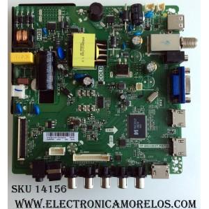 MAIN / FUENTE /(COMBO) ELEMENT H16081343 / TP.MS3393T.PB758 / MODELO ELEFW328 LE-32GJL4-B3
