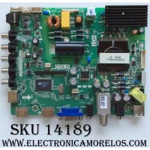 MAIN / FUENTE / (COMBO) / SANYO B14010339 / TP.MS3393T.PB79 / 02-SHY39A-CXS002 / MODELO FVD3924  P39D24-00 / PANEL LVF390CMDX E2 V1