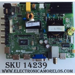 MAIN / FUENTE / (COMBO) HISENSE 195209 / HU40M2160F / R16050389 / TP.MS3393.PB851 / MODELO 40H3C1 / PANEL JHD400DF-E31