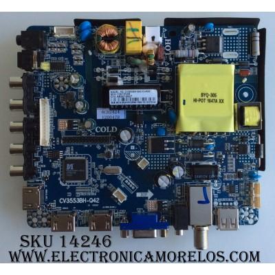 MAIN / RCA 6CH2424 / CV3553BH-Q42-12-4509 / 10015338 / AE0010827 / CV3553BH-Q42 / MODELO RT4038