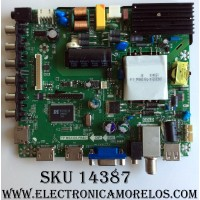 MAIN / FUENTE / (COMBO) / RCA 40GE0010366-B1 / TP.MS3393.PB801 / L15082580 / LSC400HF09 / AE0010366 / MODELO LED40G45RQ
