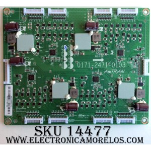 LED DRIVER / VIZIO 3665-0082-0111 / 3665-0082-0111(3A) / 55L012GBN07053A / 0171-2471-0103