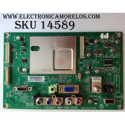 MAIN / VIZIO TXDCB02K006 / 756TXDCB02K006 / 715G5817-M01-000-004K / 006PL0249258E / TXDCB02K006002Q / TXDCB02K006001Q / TXDCB02K006003Q / MODELO E241-A1 LTTUNUAP / PANEL TPM236H3-HGEL02 Rev: C1A / TPM236H3-WU3100 Rev:4830