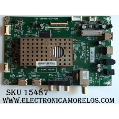MAIN / SHARP XECB0TK010 / XECB0TK010020X / 715G7228-M01-000-004K / MODELO LC-43LB371U