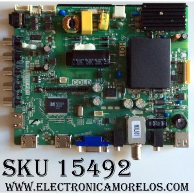 MAIN / FUENTE (COMBO) / SANYO B15062076 / TP.MS3393T.PB79 / 3MS3393X-2 / 02-SHS39A-C002009 / MODELO FW32D25T