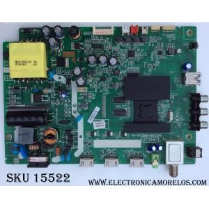 MAIN / FUENTE (COMBO) TCL V8-UX38001-LF1V025(J4) / V8-UX38001-LF1V025 / GTC000304A / 40-UX38M0-MAD2HG / UX38M0 / MODELO 40FS3750