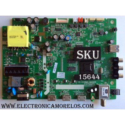 MAIN / FUENTE (COMBO) / TCL V8-UX38001-LF1V025(J1) / GTC000199A / 40-UX38M0-MAD2HG / UX38M0 / MODELO TCL 32S3750