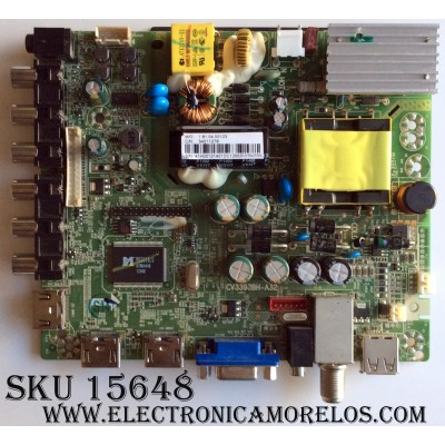MAIN / FUENTE / (COMBO) / ELEMENT 41H0012 / CV3393BH-A32 / 34011278 / MODELO ELEFW328 / PANEL LSC320AN02